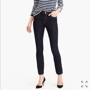 """J. Crew 9"""" High-rise toothpick jean in resin wash"""